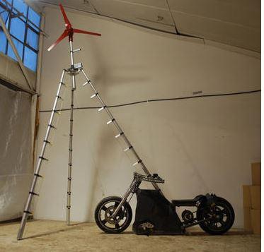 Student creates wind-powered motorcycle   MotorEagles Blog