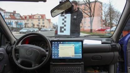 Kalibrierung der Kamera mittels Software