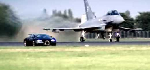 Bugatti Veyron vs Euro Fighter