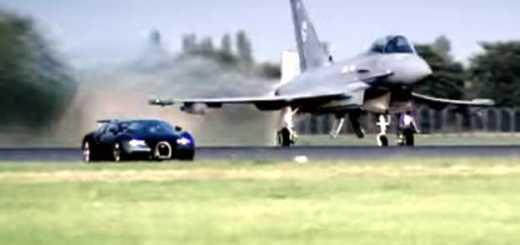 Bugatti Veyron vs Euro Fighter
