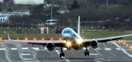 aterragem avioes contra vento