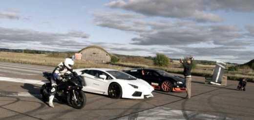 Bugatti Veyron Vs Lambo Aventador Vs BMW S1000RR
