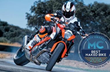 yılın motosikleti 2016 - ktm 1290 super duke r yanlama