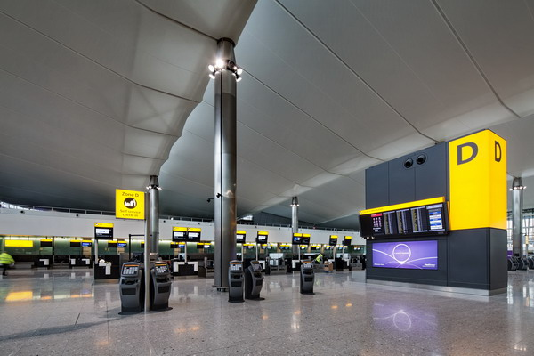 Heathrow, Terminal 2A, check-in hall, nearing completion, 30 January 2014.