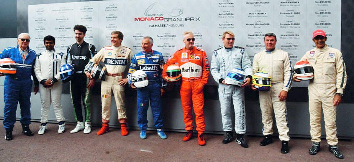 Motori360-Grand-Prix-de-Monaco-Historique-2018-33-John Watson, Emanuele Pirro, Mark Blundell, Mika Hakkinen e Eddie Irvine