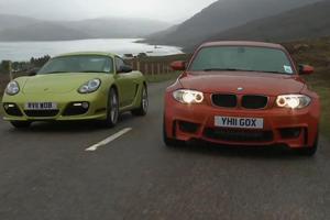 Porsche Cayman R vs BMW 1 Series M Video