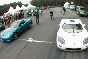 Corvette vs Koenigsegg CCXR Video