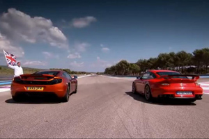 McLaren MP4-12C vs Porsche 911 GT2 RS Video