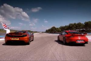 McLaren MP4-12C vs Porsche 911 GT2 RS Video