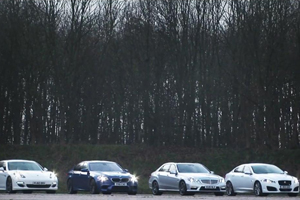 Four-door Sports Car Drag Race – BMW, Mercedes-Benz, Jaguar, Porsche