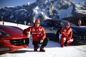 Taking the Ferrari FF for some Slalom Skiing – Video