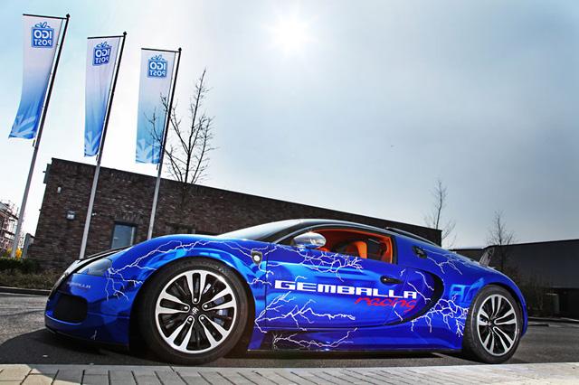 The Electric Blue Cam Shaft Bugatti Wrap