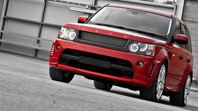 A Kahn Design Red Ranger Range Rover
