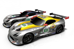 The SRT Viper GTS-Rs get their new Livery for ALMS!