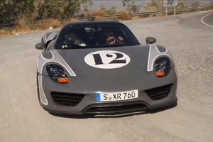 Watch some Porsche 918 Spyder Prototypes undergo Testing in Spain