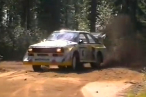 Go back to 1985 with the Group B Audi Quattro S1 in Finland