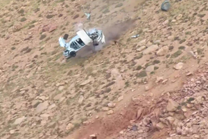 Watch the INSANE Crash at Pikes Peak!