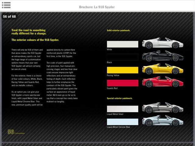 Porsche 918 Sypder Brochure Leak
