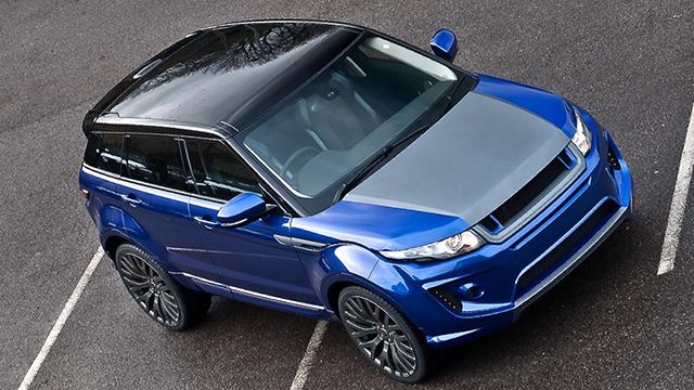 Imperial Blue Range Rover Evoque