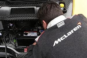 McLaren P1 breaks down