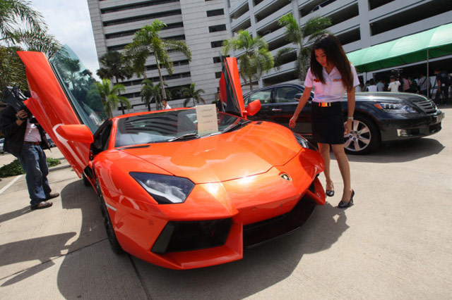 Seized Lamborghini Aventador