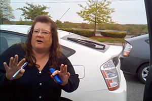Crazy Prius Lady