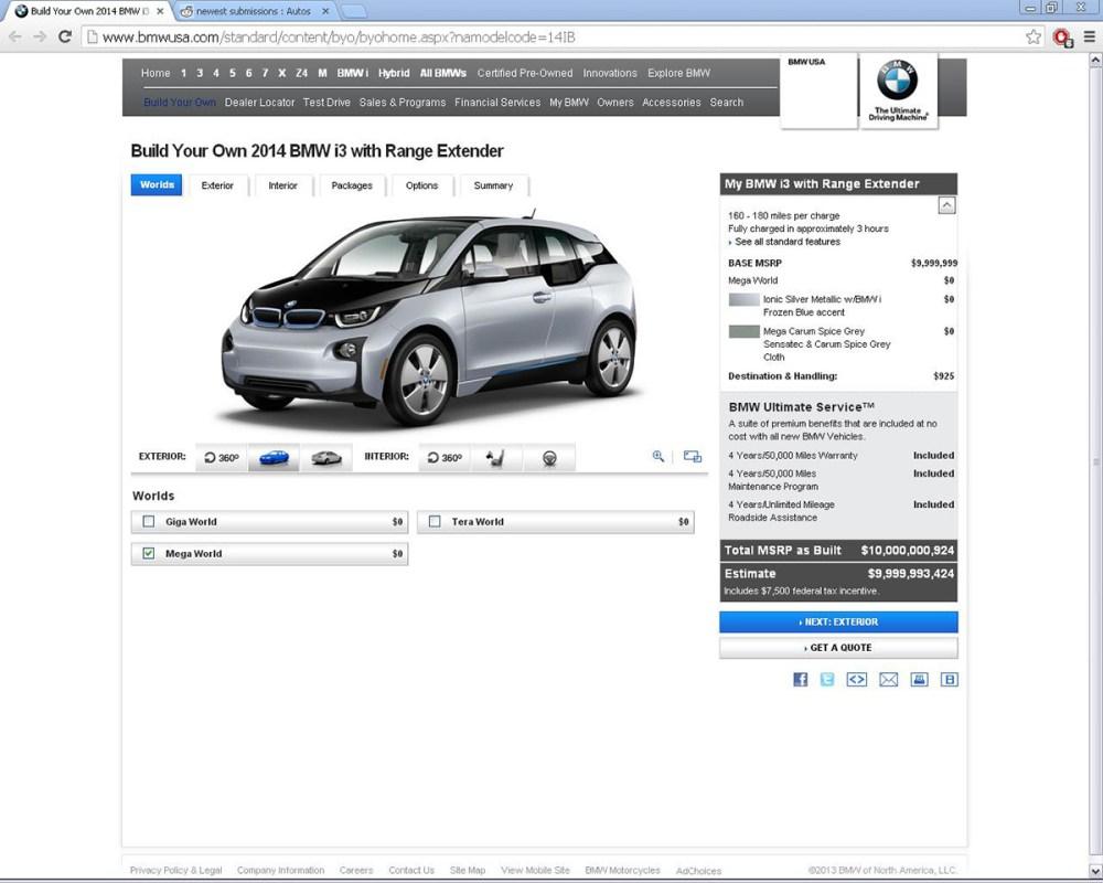 $10 Billion BMW i3