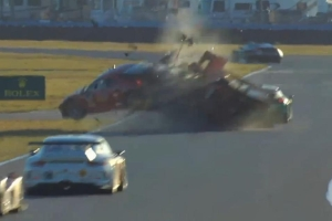 24 Hours at Daytona Crash
