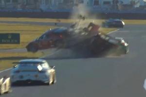 24 Hours at Daytona Crash