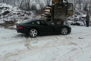 Dodge Viper Crushed