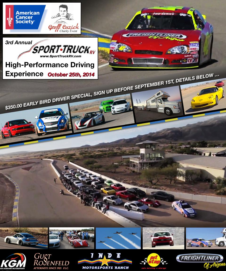 3rd Annual SportTruckRV High-Performance Driving Experience and Charity Event