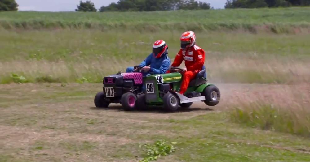 Kimi Raikkonen Lawnmower Racing