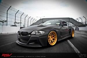 Slek Designs BMW Z4 M Coupe w/ RSV Forged S 1 RS7M Wheels