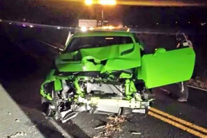 Dodge Challenger SRT Hellcat Crash