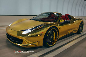 Chrome-Gold-Ferrari-458-Spider-sm
