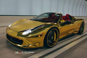 Chrome-Gold-Ferrari-458-Spider-sm