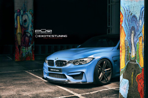 Yas Marina Blue BMW M3 PUR Wheels