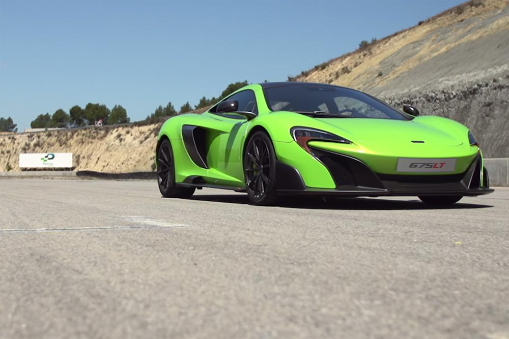 McLaren 675LT Sideways