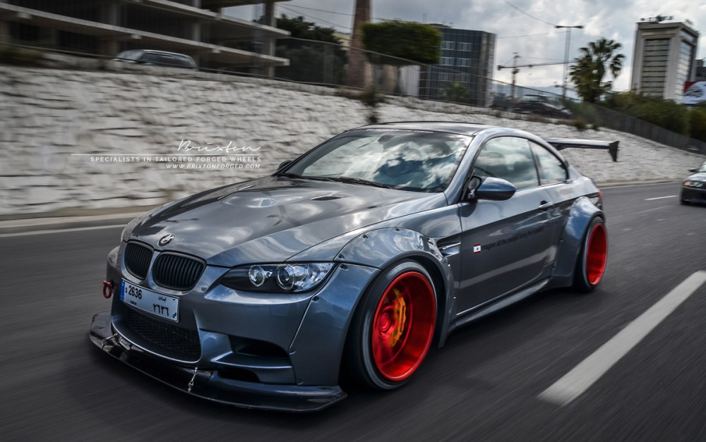 Liberty Walk BMW E92 M3 on Brixton Forged CM5 Monaco Series