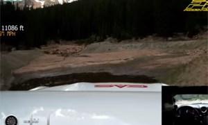 Randy Pobst Nissan GT-R Pikes Peak Crash