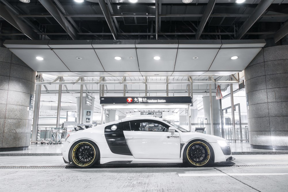 ReinART Design Audi R8 V10 with Brixton Forged M53 Targa Wheels and Prior Design GT850 Widebody