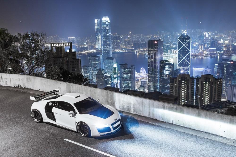 ReinART Design Audi R8 V10 with Brixton Forged M53 Targa Wheels and Prior Design GT850 Widebody