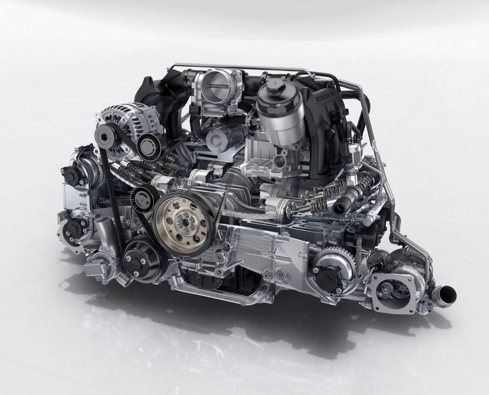 Turbocharged 3.0-liter flat-six Porsche 911 Carrera and Carrera S