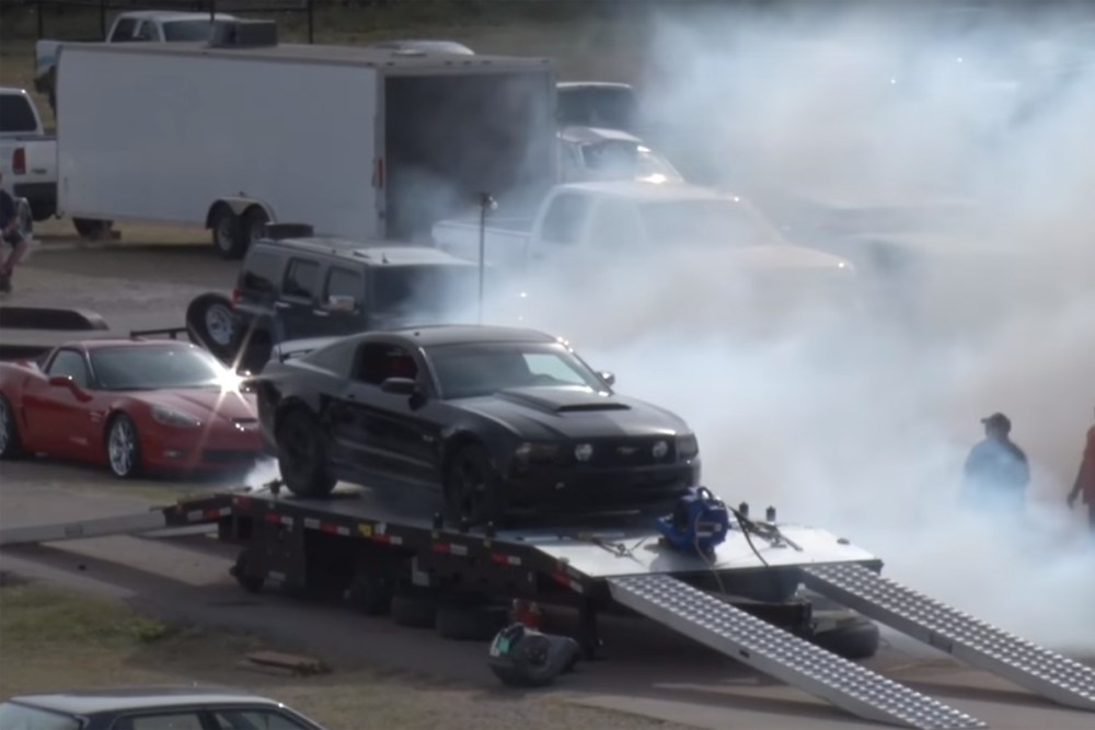 Ford Mustang Tire Explosion