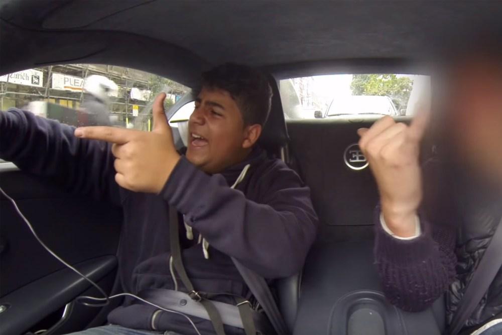 Kid Wins Bugatti Ride