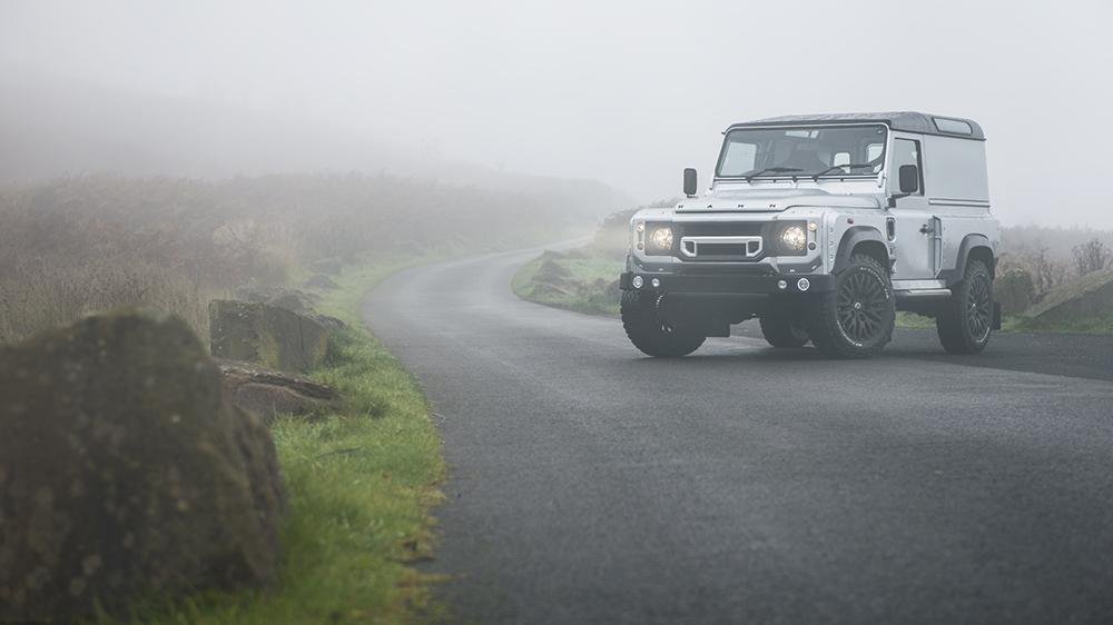Silver Land Rover Defender 2.2 TDCI 90 Hard Top Chelsea Wide Track
