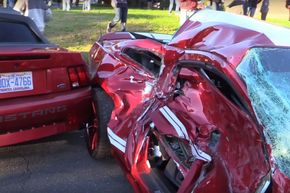Friday FAIL Mustang GT500 Crash