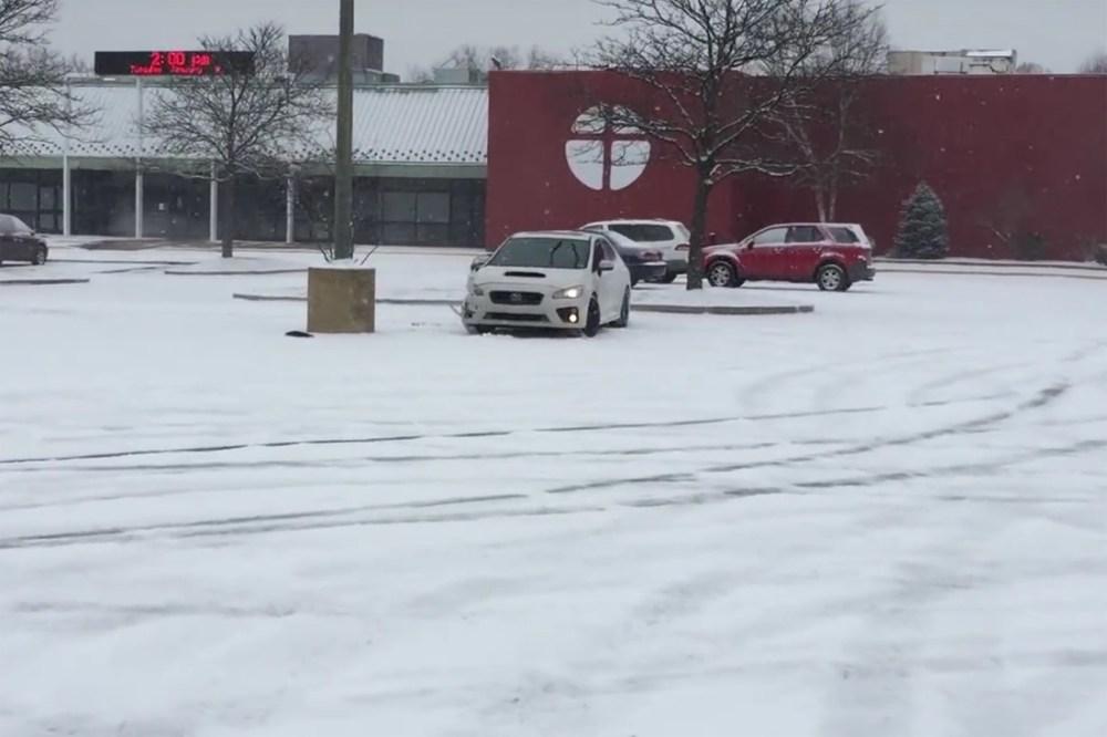 Subaru WRX Snow Drift Crash