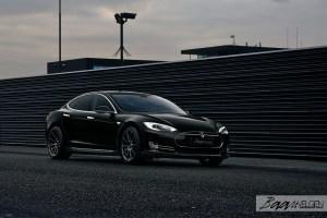 Tesla Model S P85 with Vorsteiner V-FF 102 Wheels by Baan Velgen