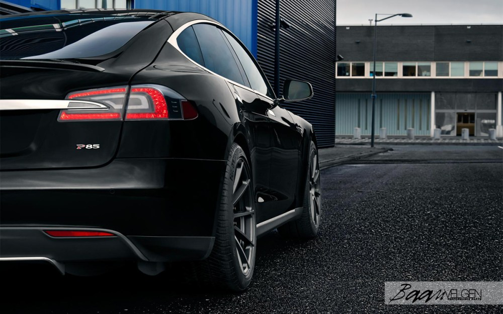 Tesla Model S P85 with Vorsteiner V-FF 102 Wheels by Baan Velgen